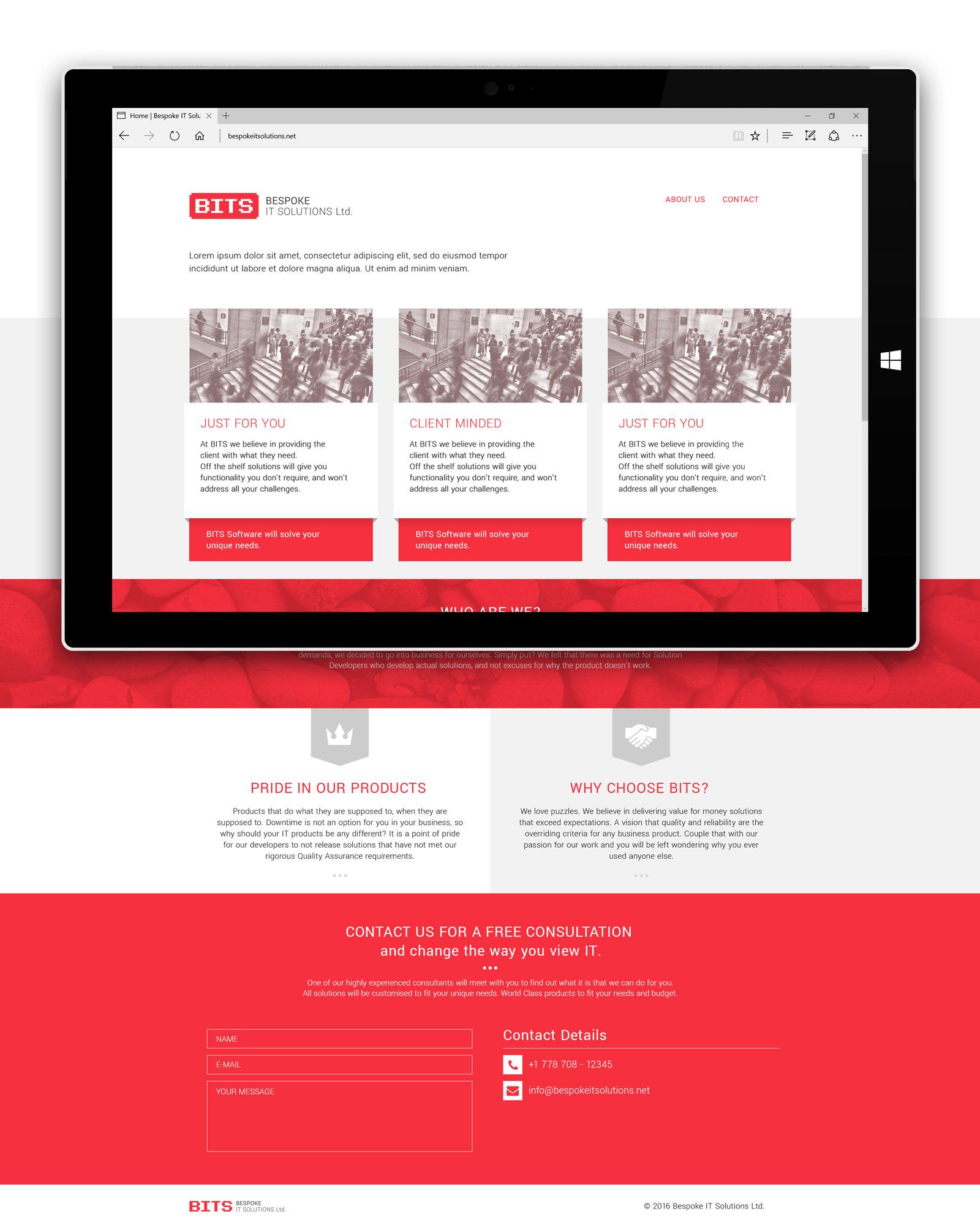 Bespoke IT Solutions Ltd. | Webdesign | Branding By Artjom Meister | Art-mas.com