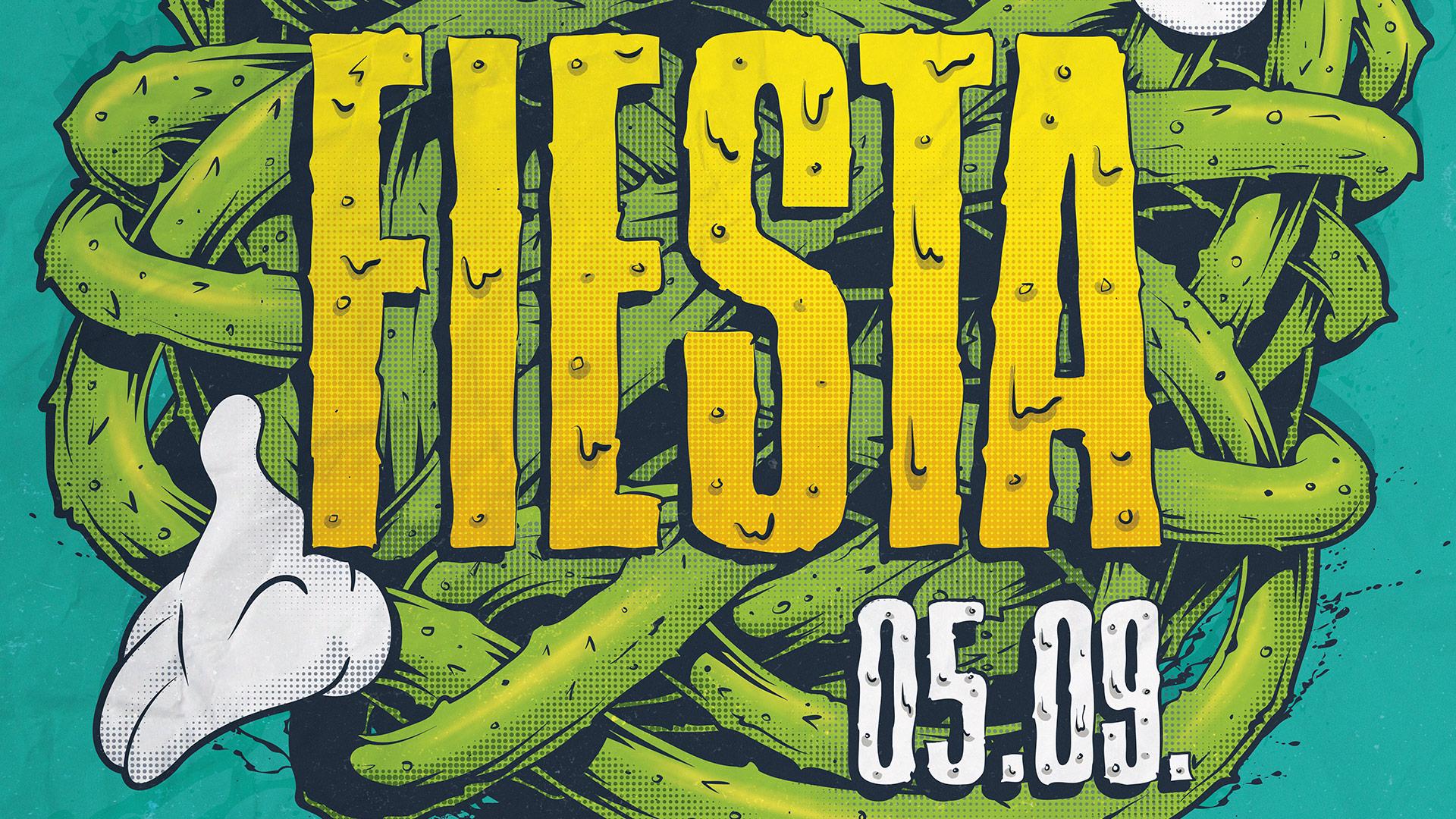 Gringos Fiesta 2015 | Poster Detail | Illustration By Artjom Meister | Art-mas.com