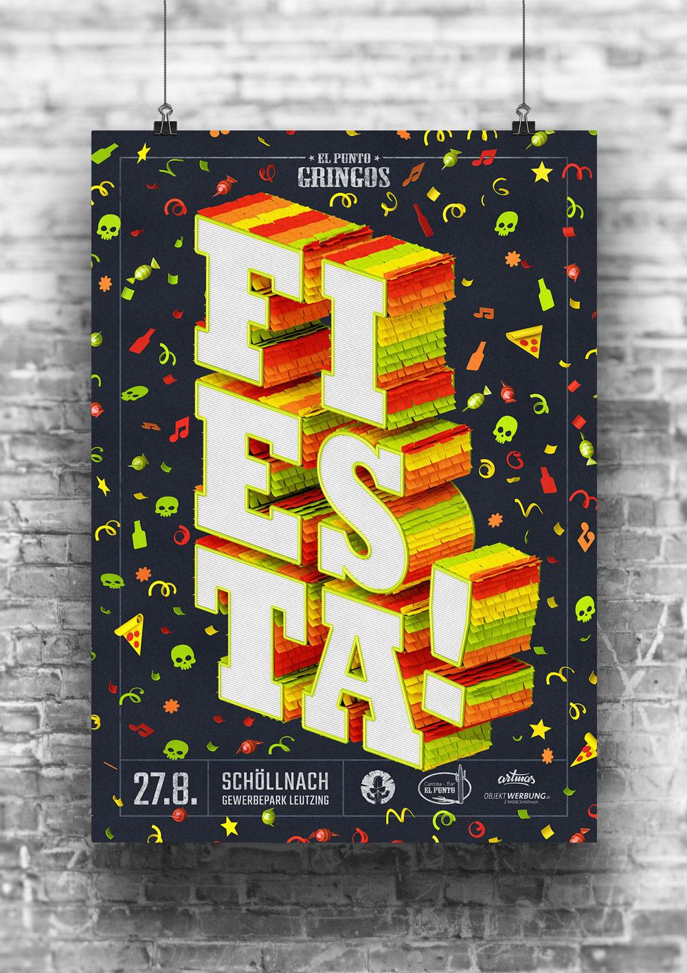 Gringos Fiesta 2016 | Poster | Illustration By Artjom Meister | Art-mas.com