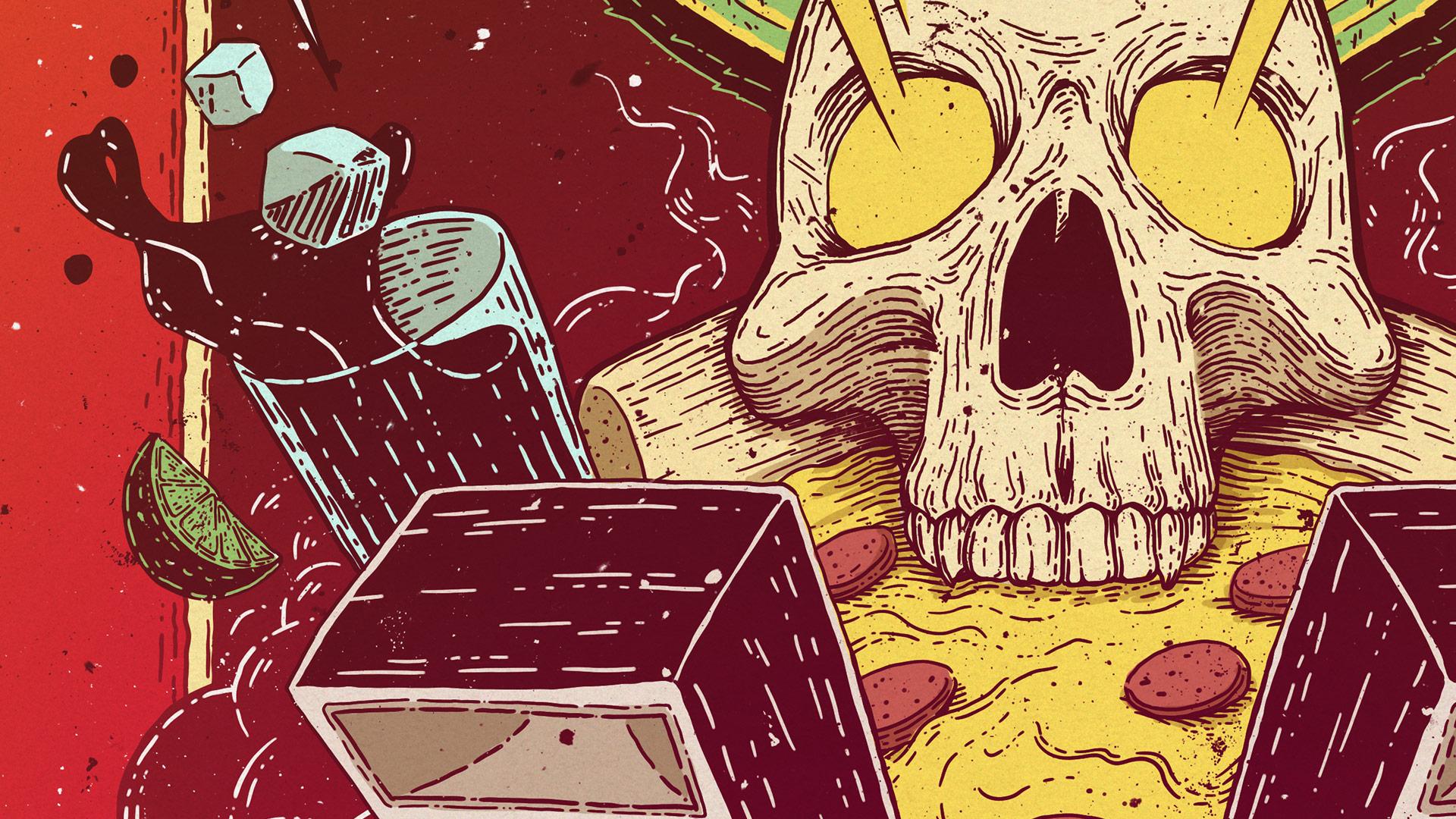 Gringos Fiesta 2017 | Poster Detail | Illustration By Artjom Meister | Art-mas.com