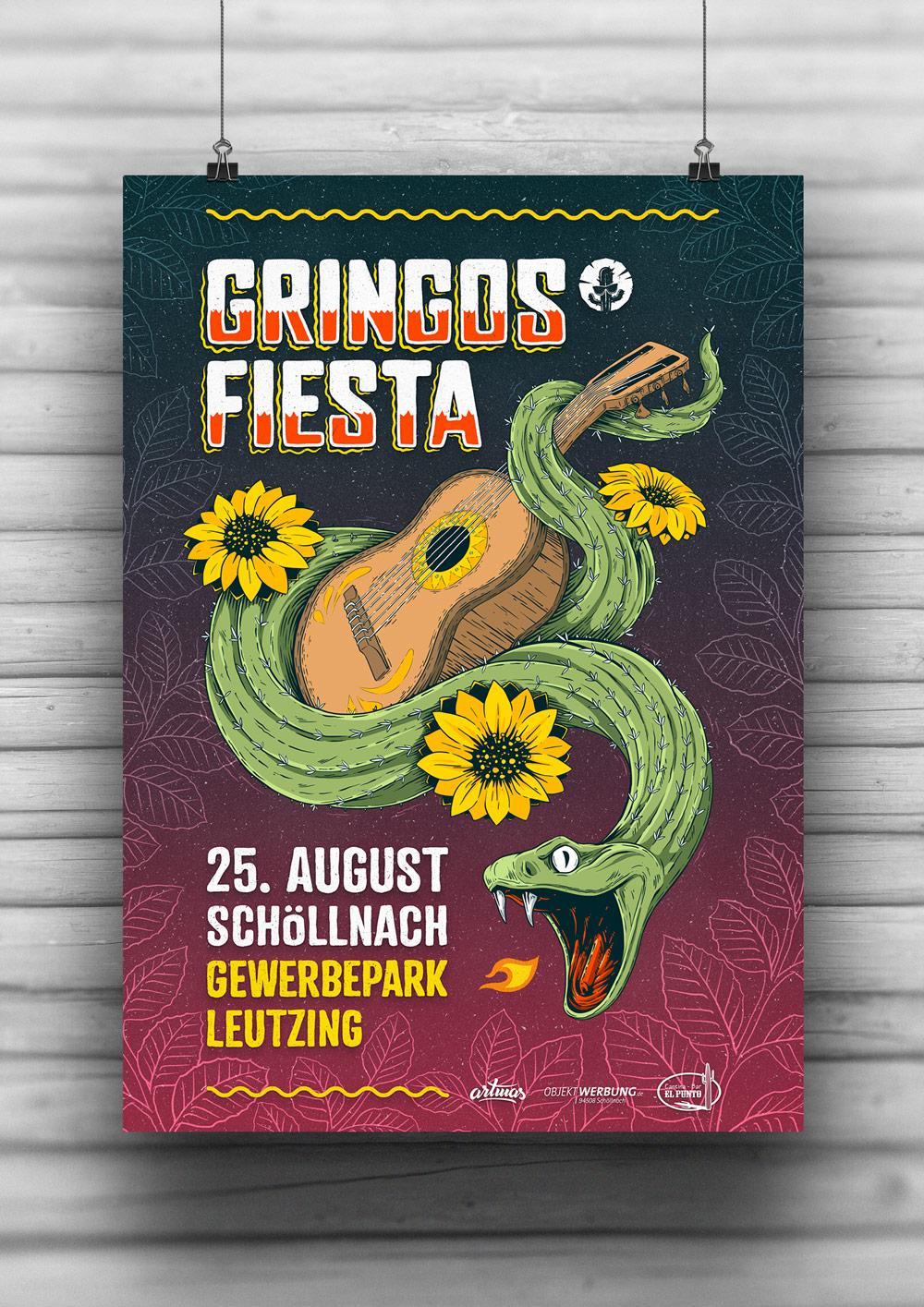 Gringos Fiesta 2018 | Poster | Illustration By Artjom Meister | Art-mas.com