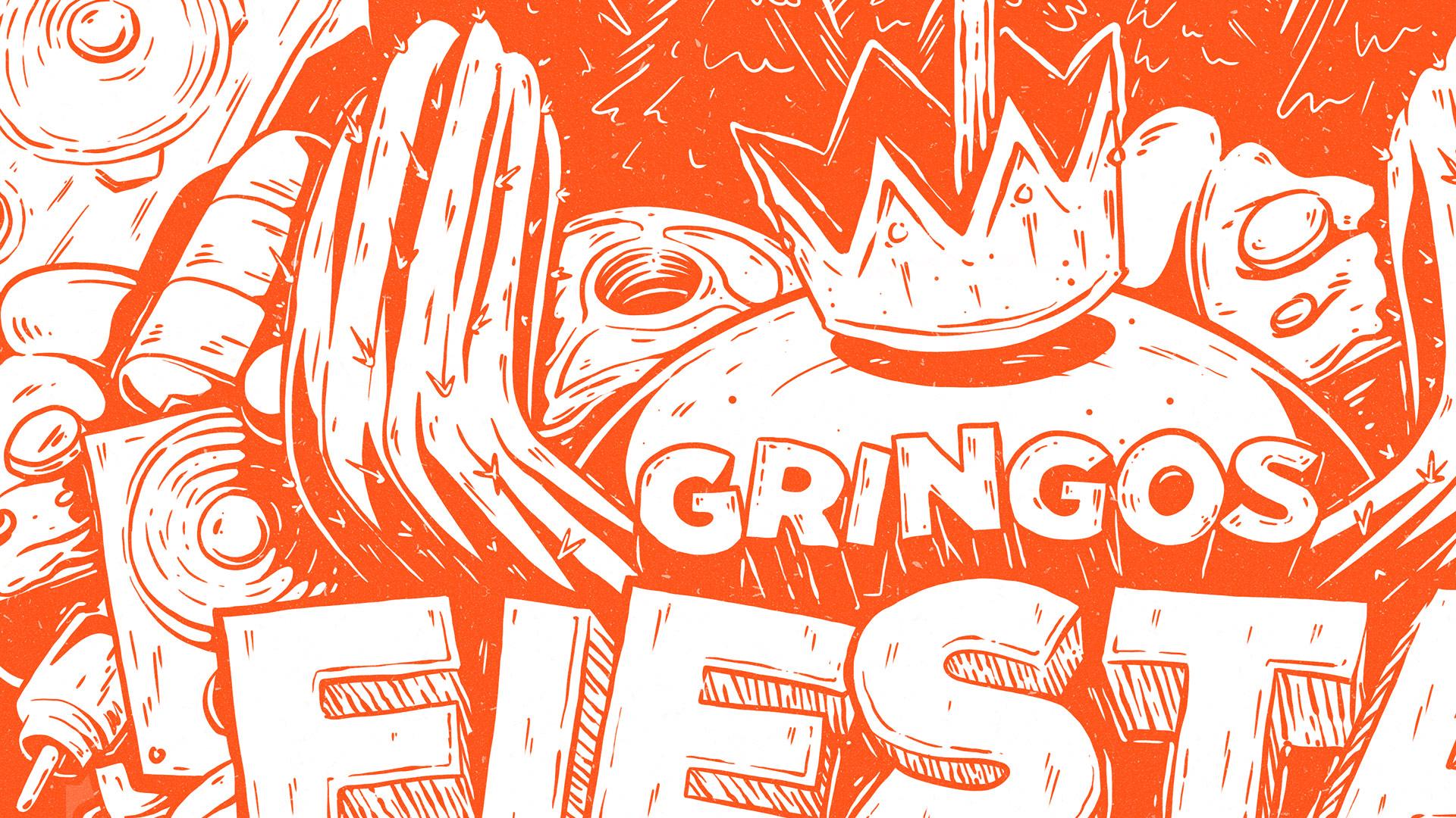 Gringos Fiesta 2019 | Poster Detail | Illustration By Artjom Meister | Art-mas.com