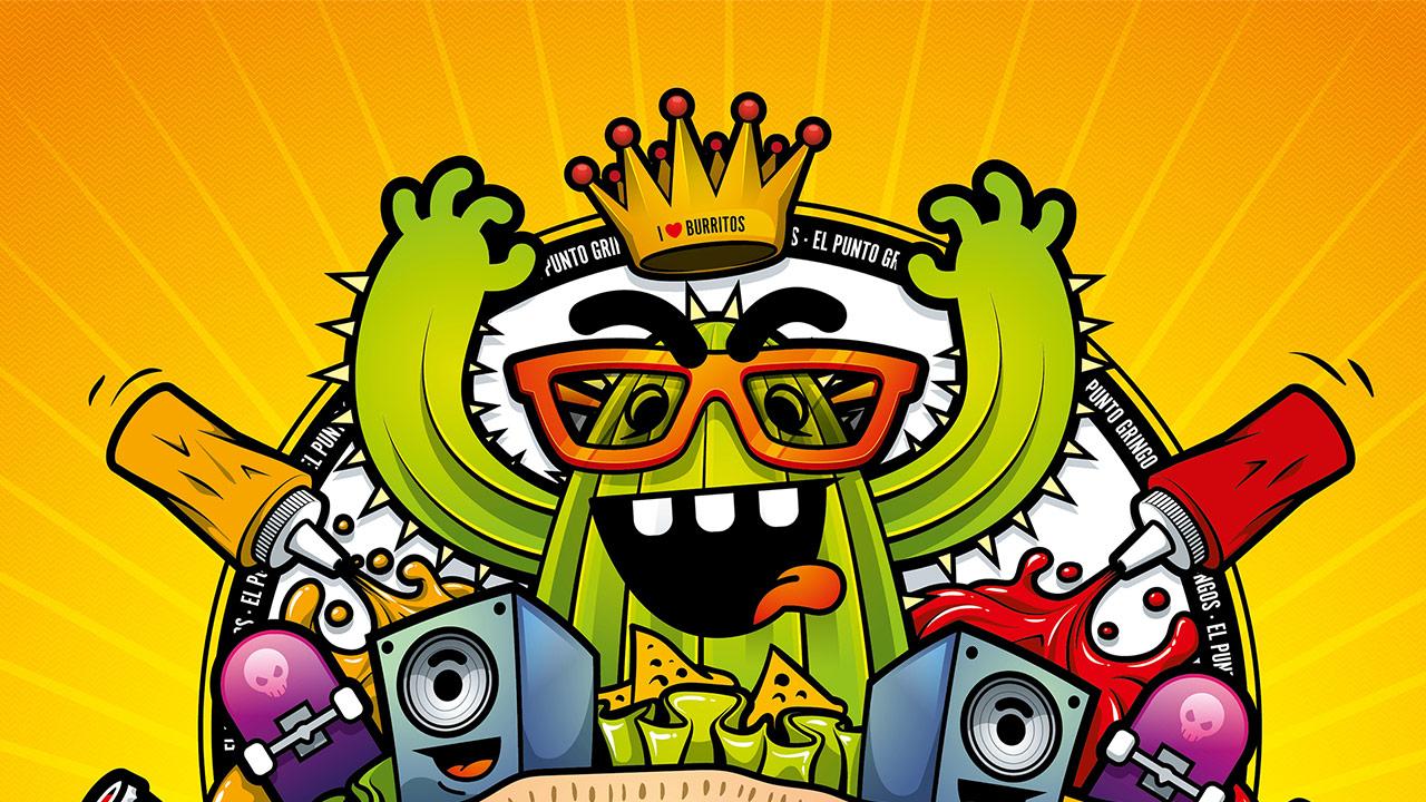 Gringos Fiesta 2014 | Cover | Illustration By Artjom Meister | Art-mas.com